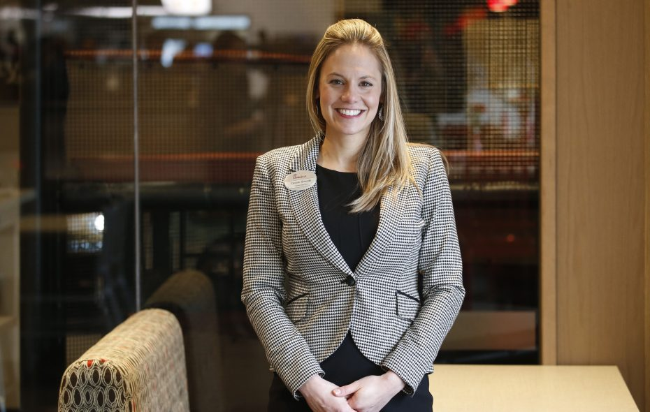 """Chick-fil-A has """"given me a huge opportunity by allowing me to be the steward here in Western New York and I want to do right by them,"""" Cassie Sheedy says. (Robert Kirkham/Buffalo News)"""
