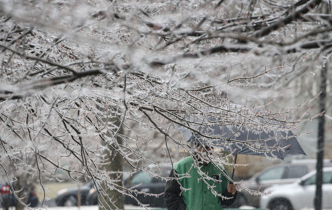 Wednesday's freezing rain will give way to a brief bubble of balmy on Thursday. (Derek Gee/Buffalo News)