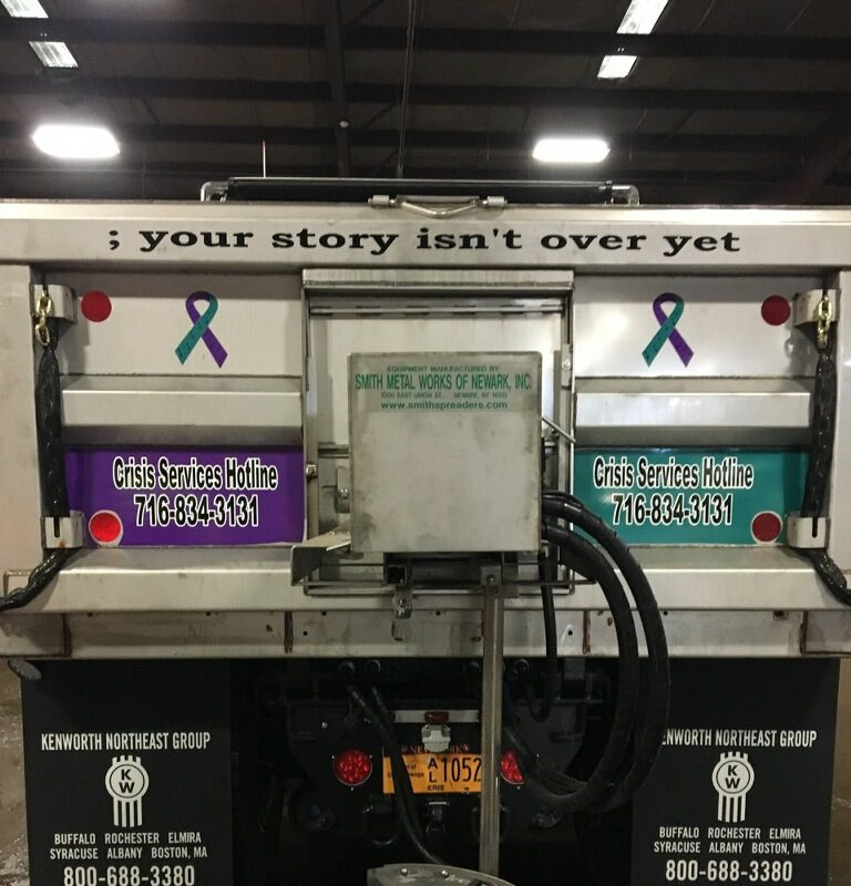 Cheektowaga's newest plow truck carries a message of suicide prevention and mental health awareness.