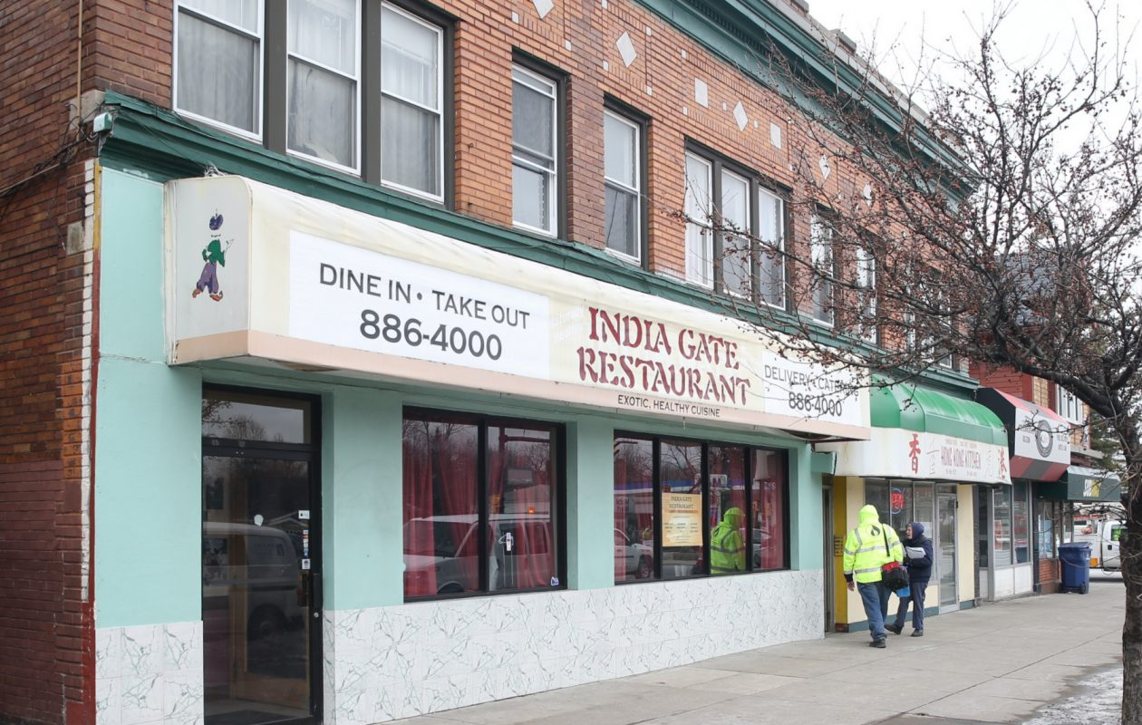 A fire damaged the kitchen at India Gate Restaurant on Feb. 11. (John Hickey/Buffalo News)