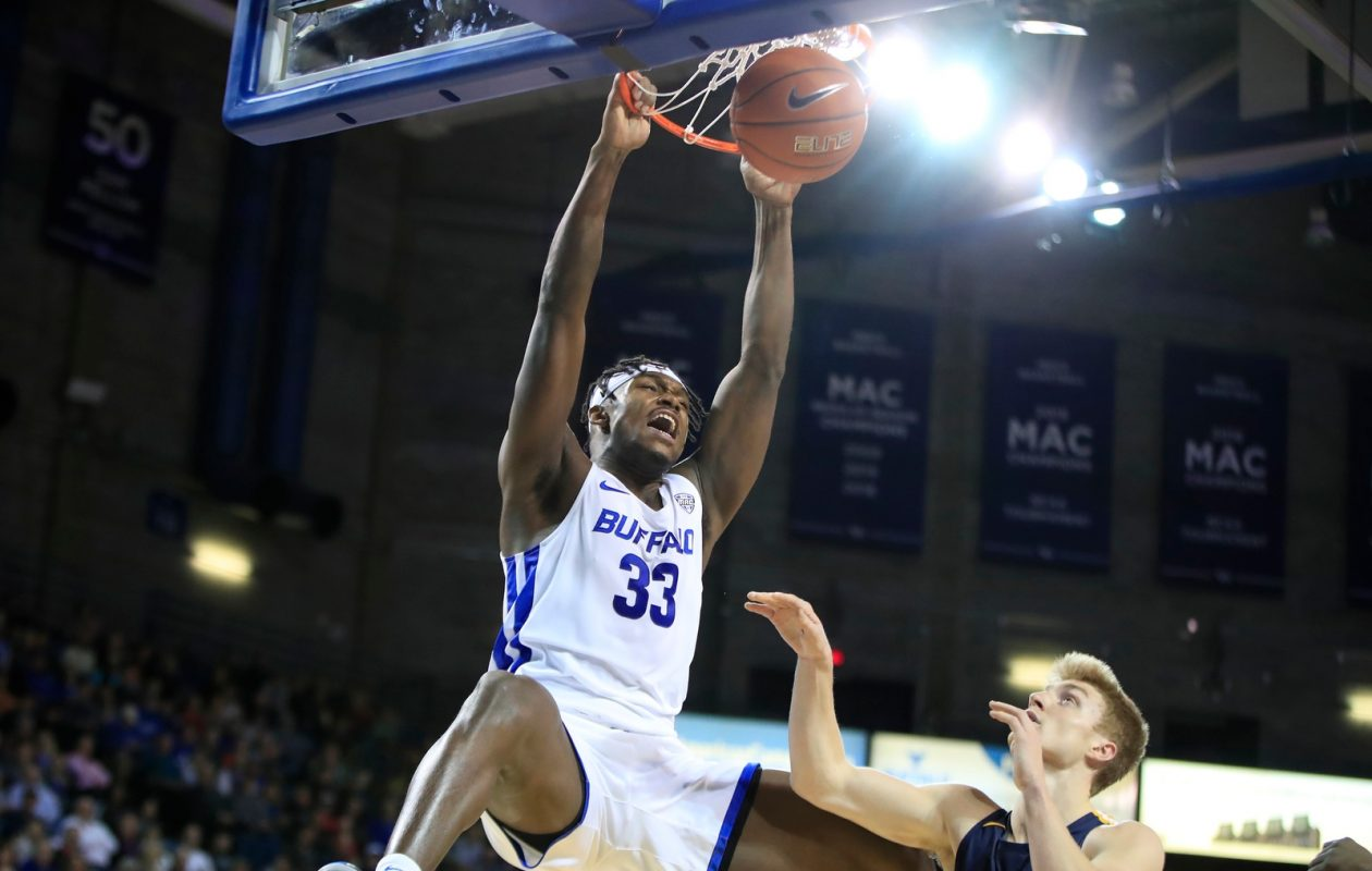 Nick Perkins scored 12 points in the first half Tuesday against Akron for the UB men's basketball team. (Harry Scull Jr./News File photo)