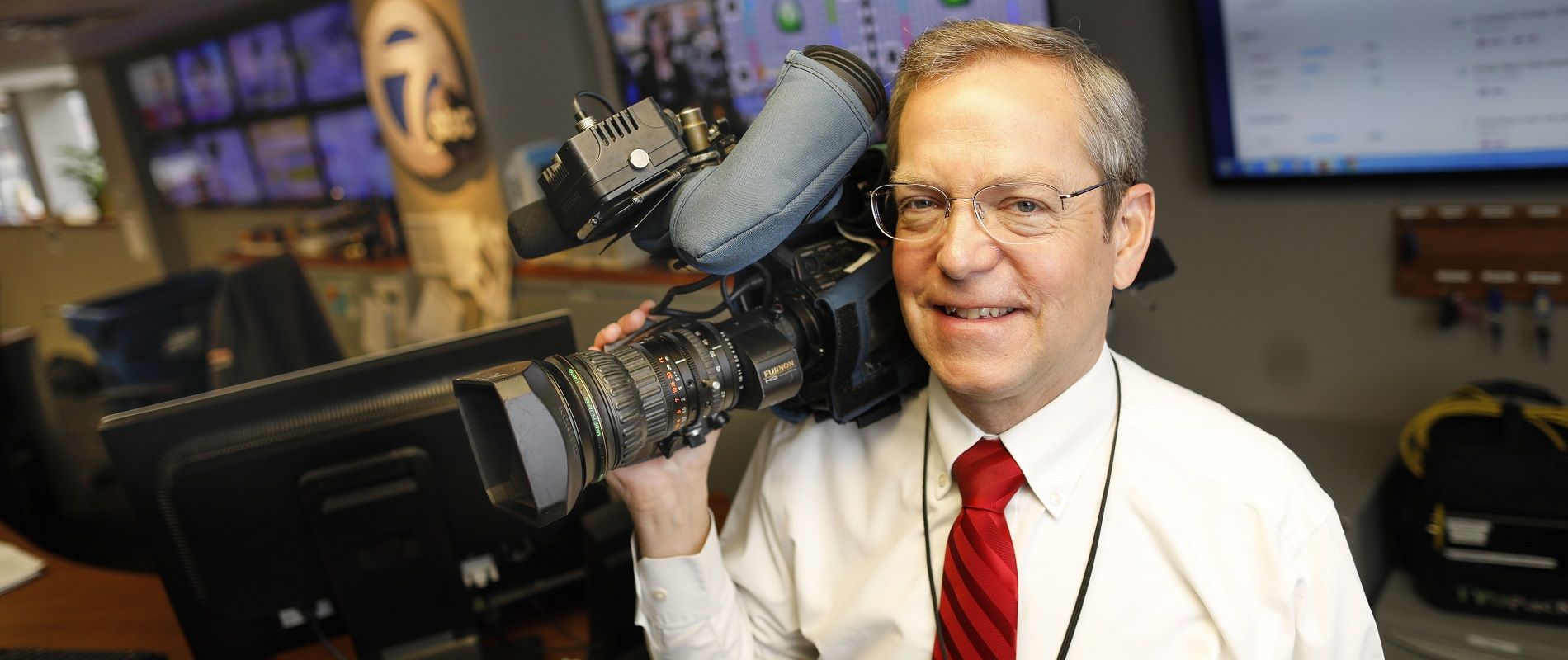 Channel 7's Ed Reilly has gone from working behind a camera in anonymity to a reporter who is stopped when he is out at department stores and restaurants. (Derek Gee/Buffalo News)