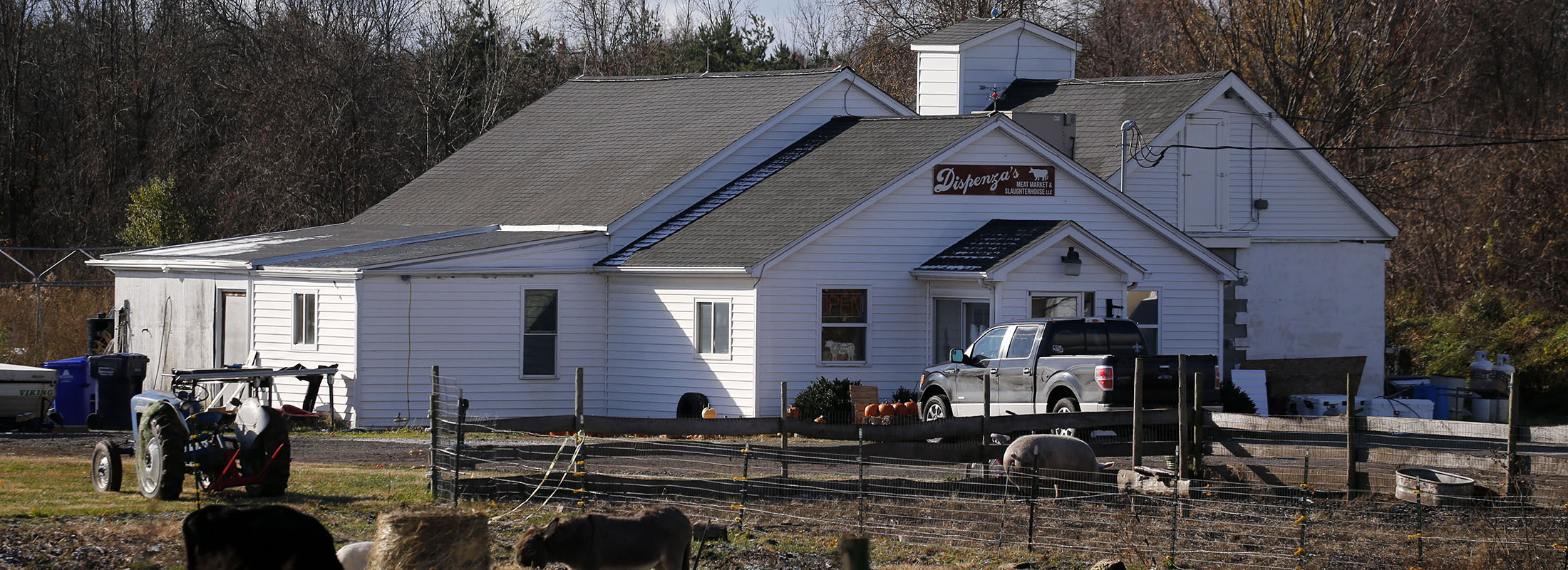 Dispenza's Meat Market on Ridge Road in Cambria, as seen in November. (Derek Gee/Buffalo News)