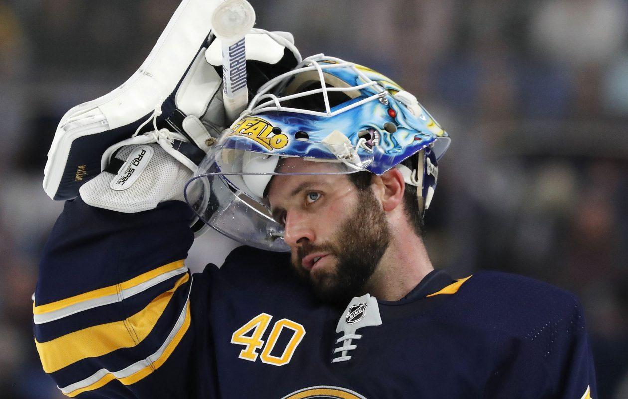 Buffalo Sabres goalie Carter Hutton. (Mark Mulville/News file photo)