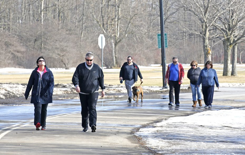 Is another warmup on the way like this one on Feb. 4, that had people enjoying the sunshine in Cazenovia Park in South Buffalo?  (Robert Kirkham/Buffalo News)