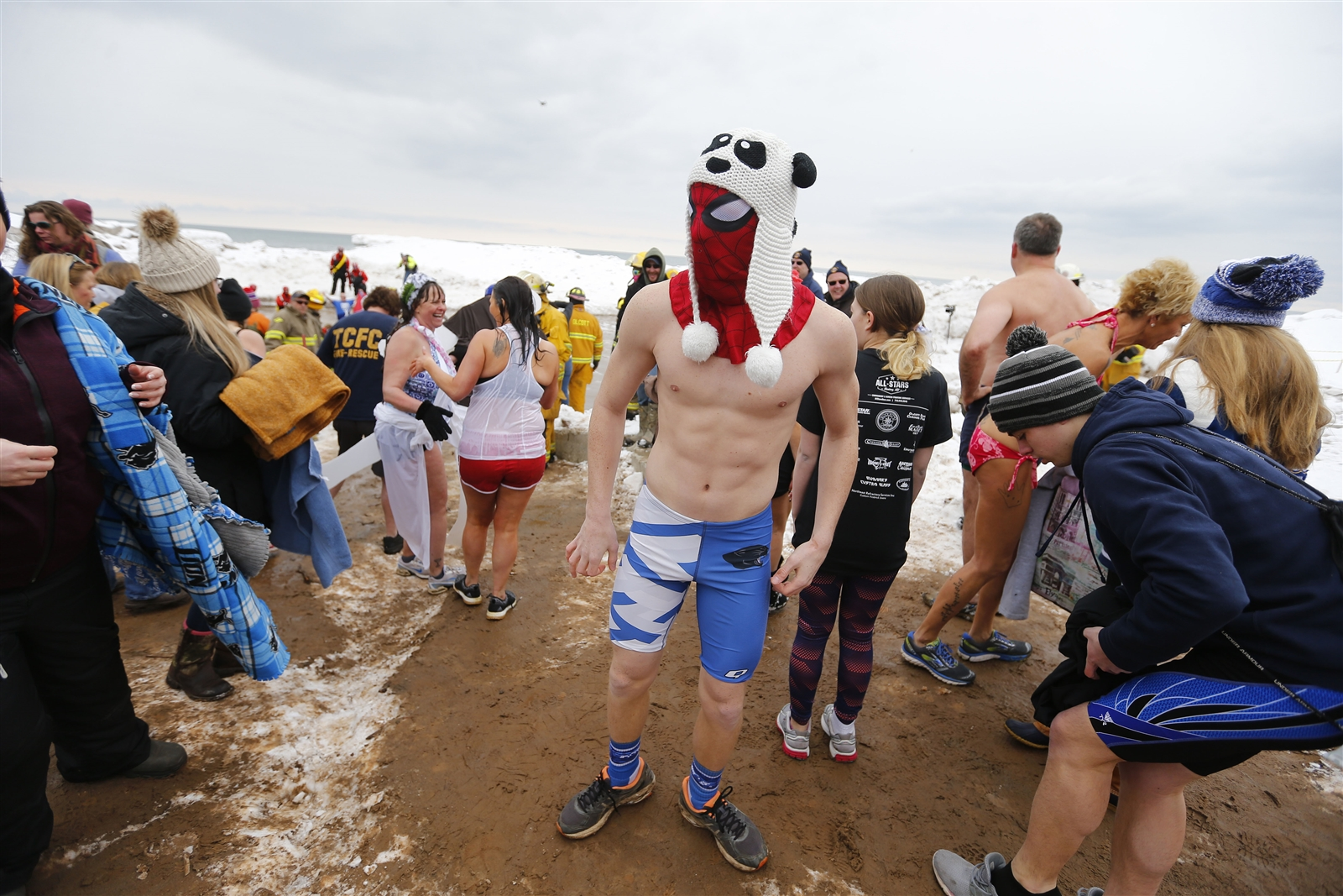 26811a01ca Hundreds brave icy waters for 50th Polar Bear Swim – The Buffalo News