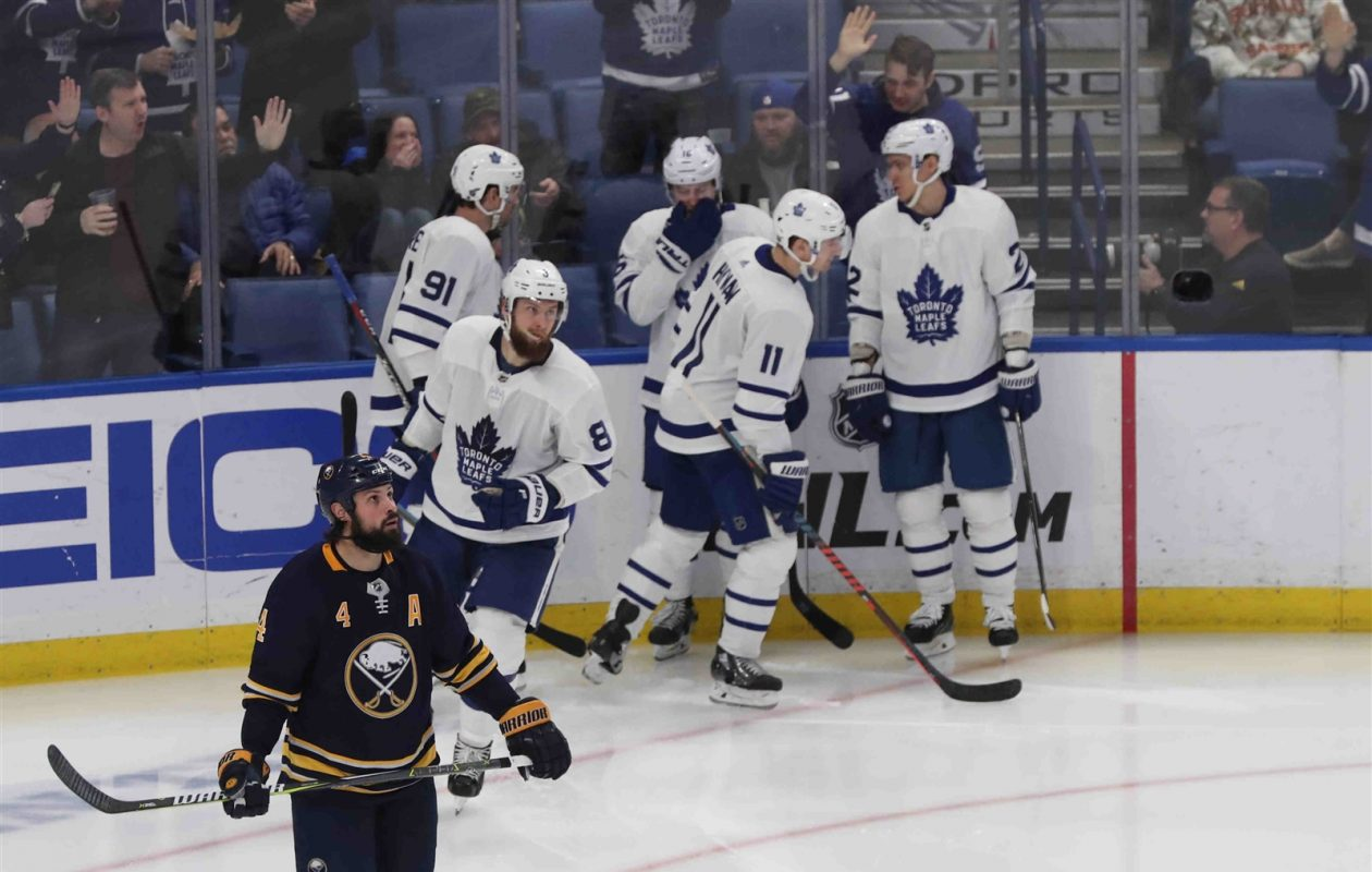 Zach Bogosian and the Buffalo Sabres are tied for the fewest points in the NHL since their 10-game winning streak. (James P. McCoy/Buffalo News)