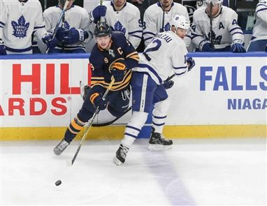 The Buffalo Sabres fell to the Toronto Maple Leafs, 4-2, on Wednesday, March 20, 2019, at KeyBank Center.