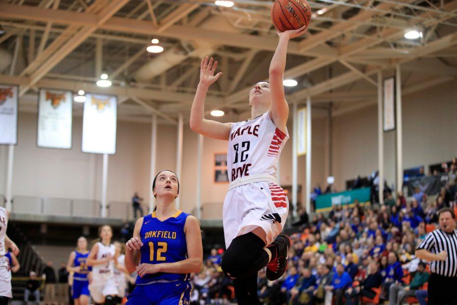 Schuppenhauer -Maple Grove-Oakfield Alabama-Far West Rigional-Class C-Championship-Buffalo State-Scull-Girls Basketball