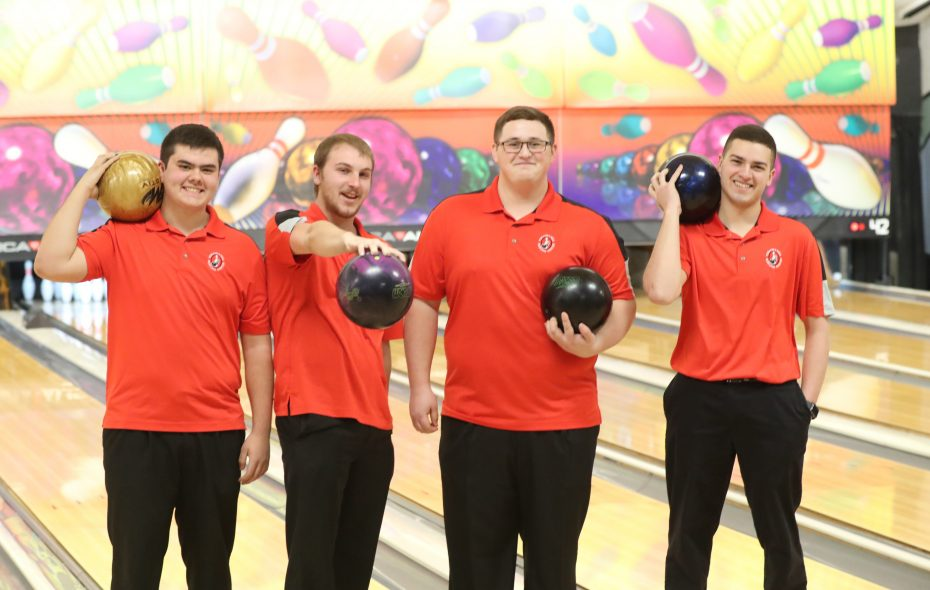 The team of Mike Weber, Joshua Large, Dom Germano and Ryan Reese have dominated the area's youth bowling scene (James P. McCoy/Buffalo News)