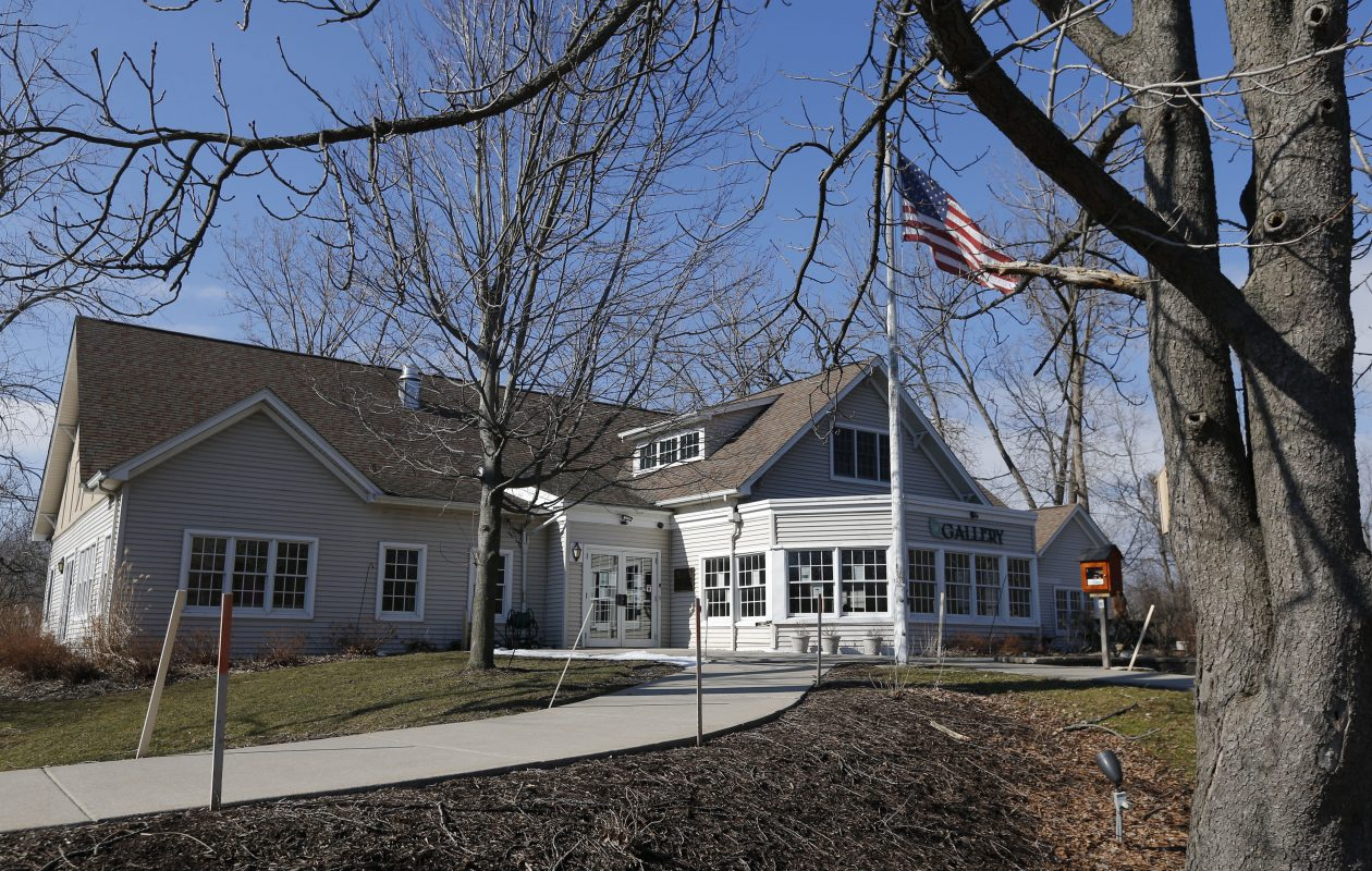 The Burchfield Nature and Art Center building on Union Road, which is owned by the Town of West Seneca, was closed two years ago after walls sagged and hardware started popping off the windows. (Robert Kirkham/Buffalo News)