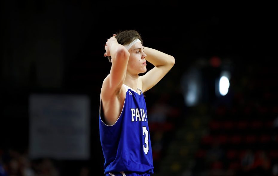 Panama player Issac Lawson walks back to the bench after a loss to Oppenheim-Ephratah/St. Johnsville during the News York State Class D semifinal at the Floyd L. Maines Veterans fMemorial Arena on Saturday, March 16, 2019. (Harry Scull Jr./Buffalo News)