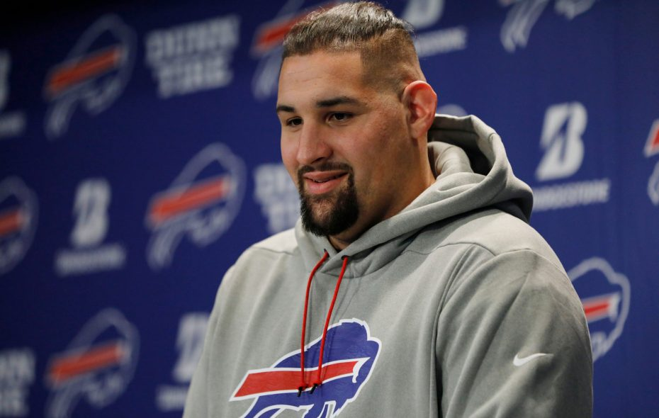Bills offensive lineman Jon Feliciano. (Derek Gee/Buffalo News)