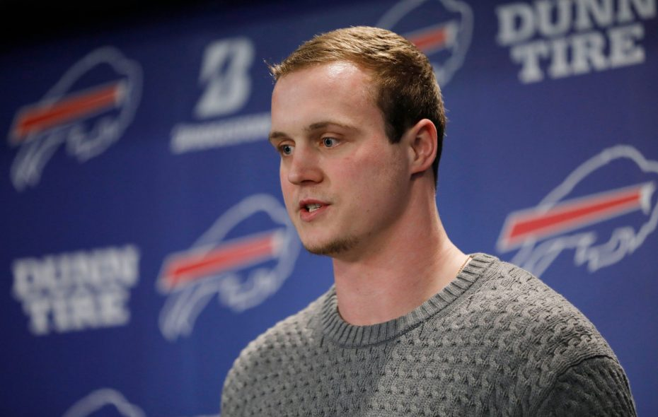 New Bills tight end Tyler Kroft played just five games in 2018 because of a foot injury. (Derek Gee/Buffalo News)
