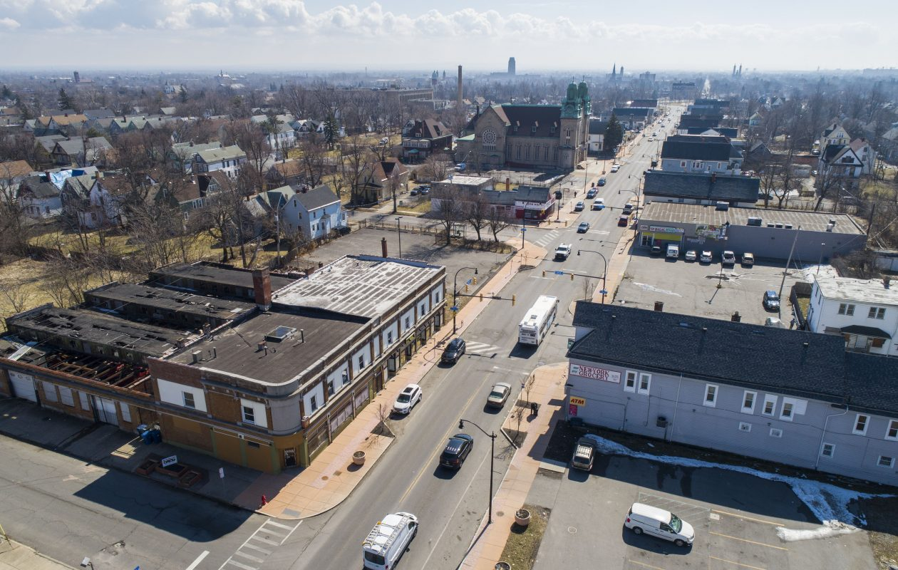 Fillmore Avenue, looking south near Utica Street, on March 19. (Derek Gee/Buffalo News)