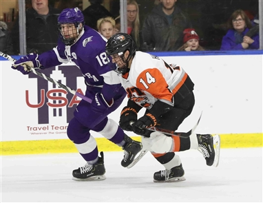 Niagara Purple Eagles vs RIT Tigers Atlantic Hockey semifinals.