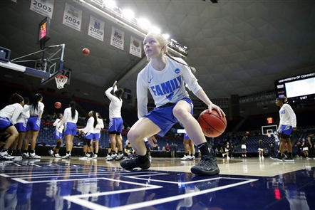 The University at Buffalo women's basketball team faces the Rutgers Scarlet Knights in the opening round of the NCAA Tournament.