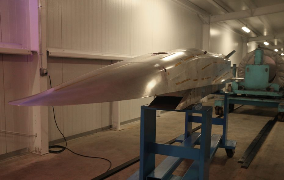 A scramjet (supersonic-combustion ramjet) model at CUBRC. (John Hickey/News file photo)