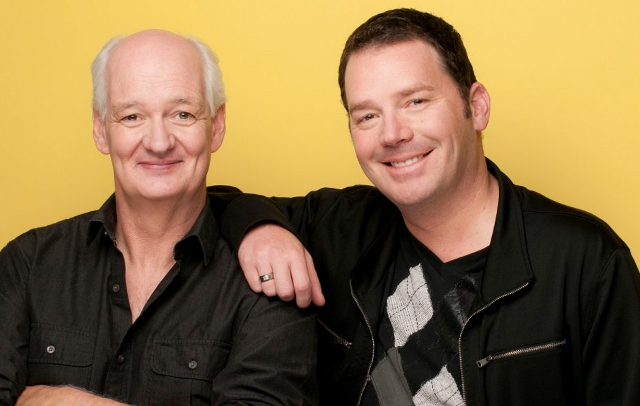 "Colin Mochrie, left, and Brad Sherwood, will perform their two-man show, ""Scared Scriptless,"" on Friday, April 5 at the University at Buffalo Center for the Arts. (Photo courtesy Jonas Public Relations)"