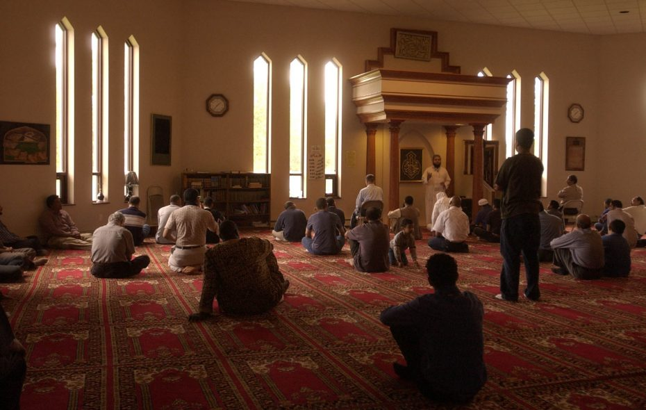Muslim men pray at the Muslim Community Center of Western New York in this 2004 file photo. (Derek Gee/Buffalo News)