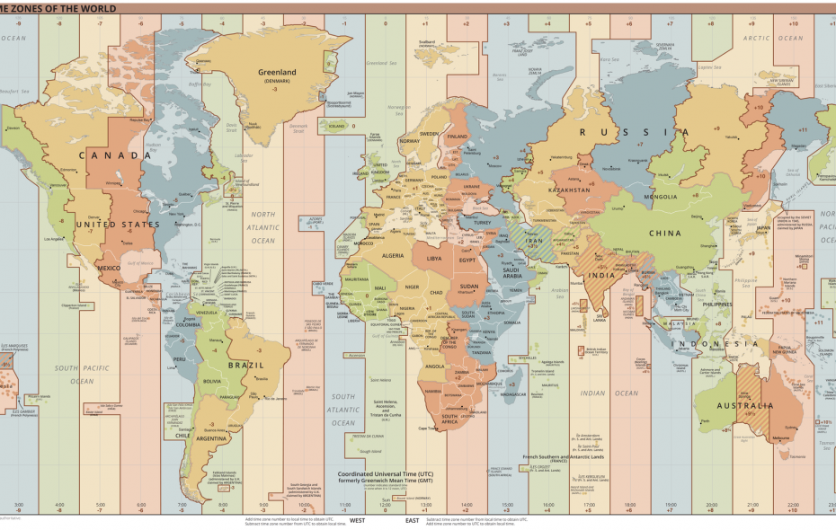 This time zone map comes courtesy of the CIA, but you don't need a security clearance to look at it.
