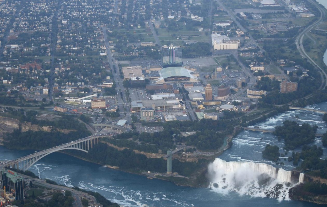 The state's purchase of 31 properties on 9.5 acres in downtown Niagara Falls could prompt new investment in the underperforming tourist city. (Derek Gee/Buffalo News file photo)
