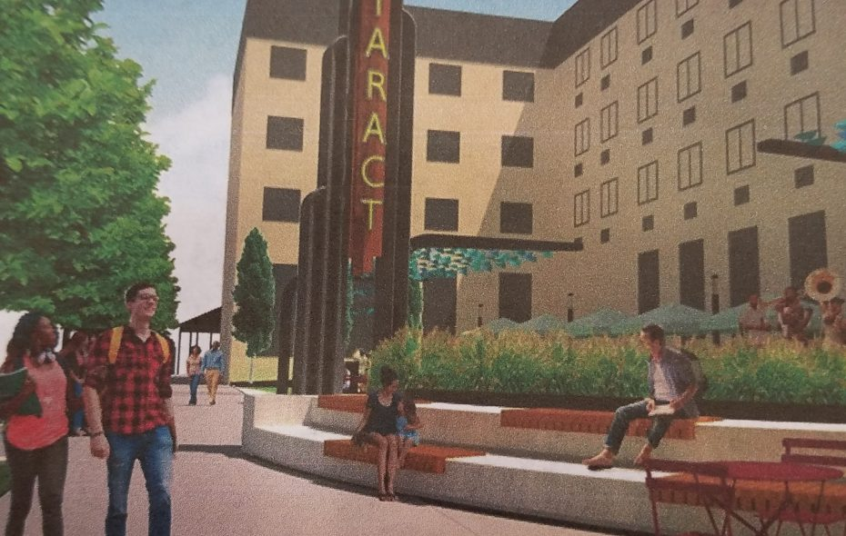 An artist's rendering of Cataract Commons. (USA Niagara Development Corp.)
