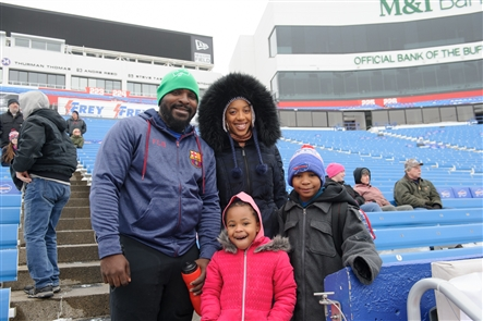 Smiles at Buffalo Snow Bowl at New Era Field
