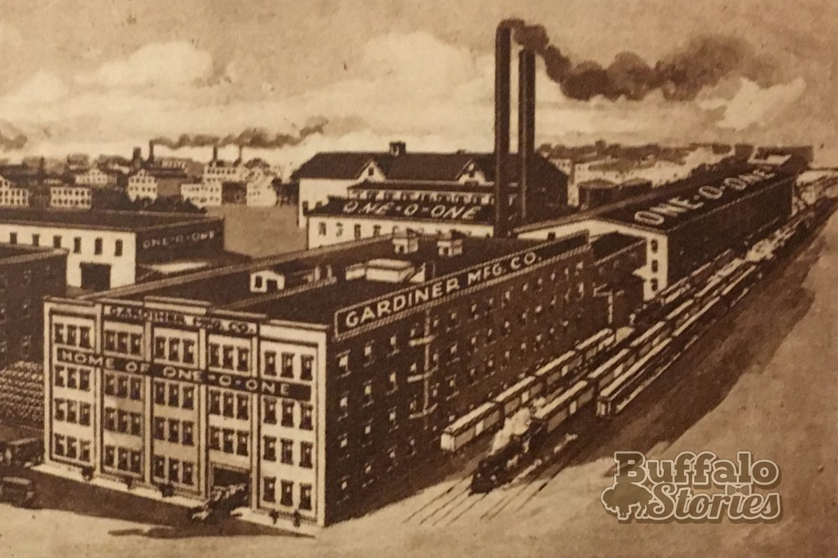 The site of the former 101 plant on Van Rensselaer Street is now a parking lot for the Larkin Complex. (Buffalo Stories archives)