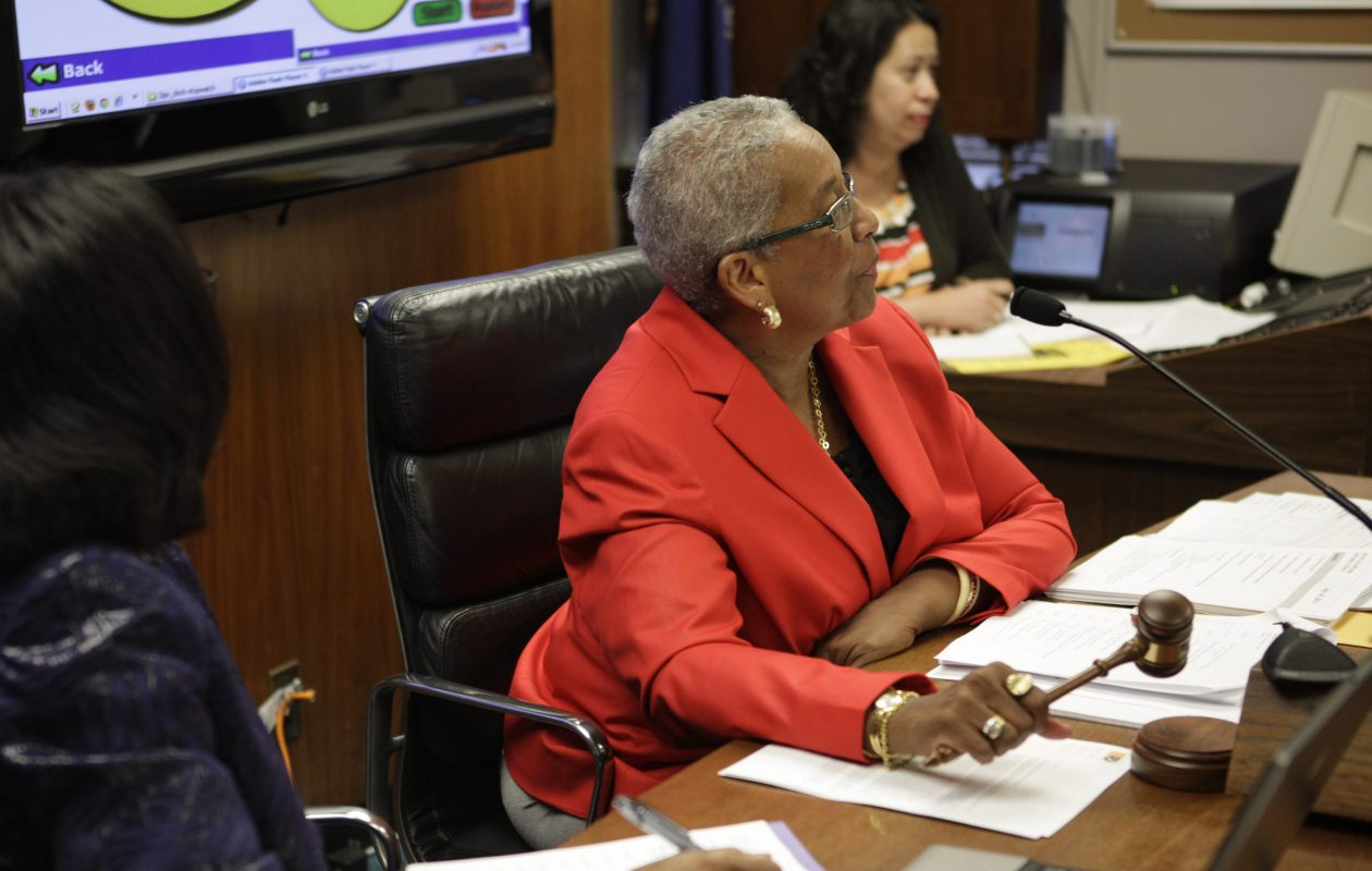 Dr. Barbara Seals Nevergold calls a Buffalo Board of Education meeting to order.  (News file photo)