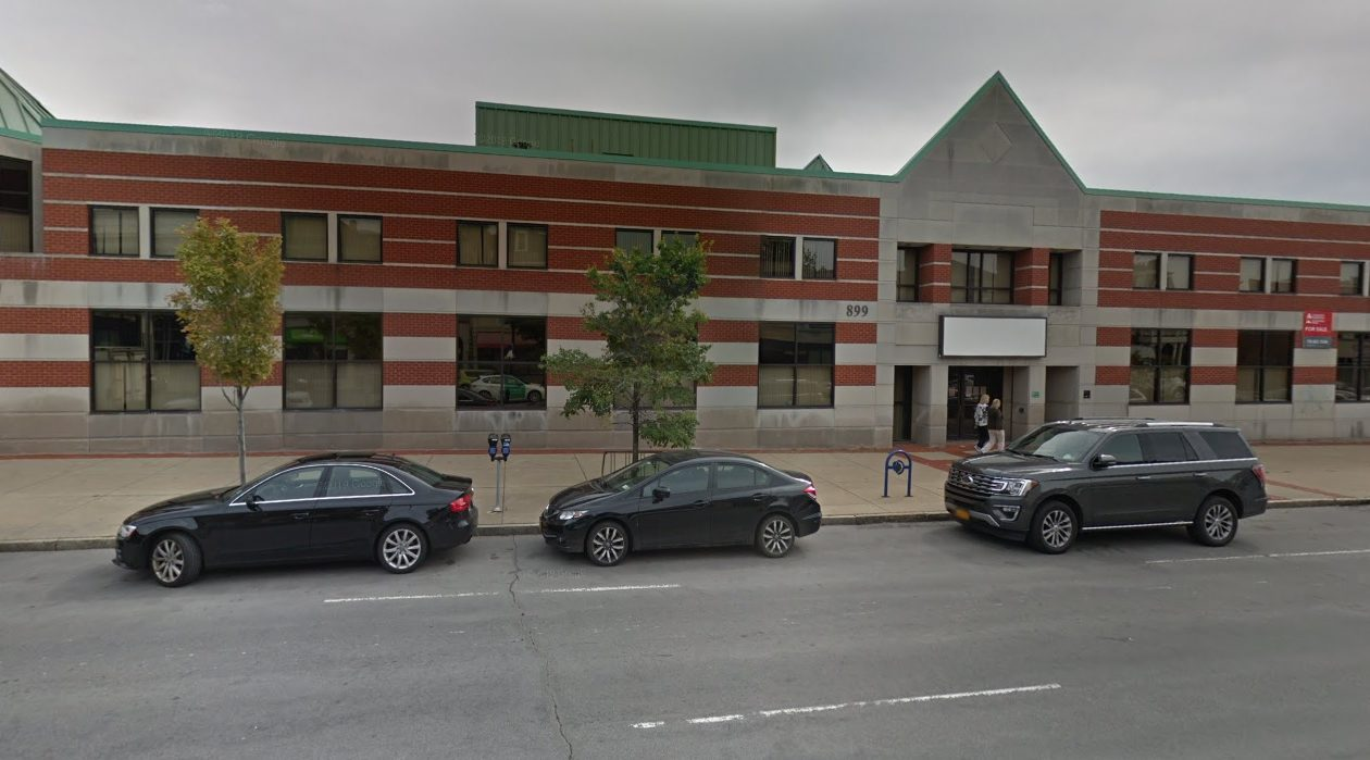 Uniland Development Co. bought the former Mosher Health Center from Excellus Health Plan. (Google)
