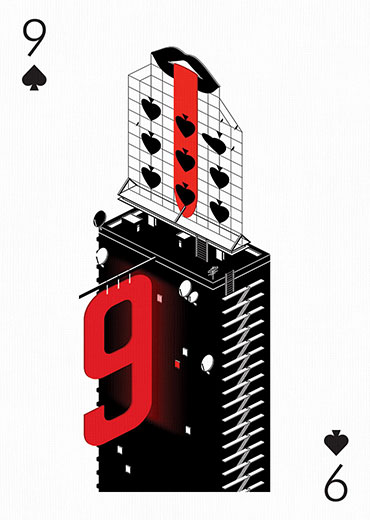 Nine of Spades by Anton Repponen for Playing Arts