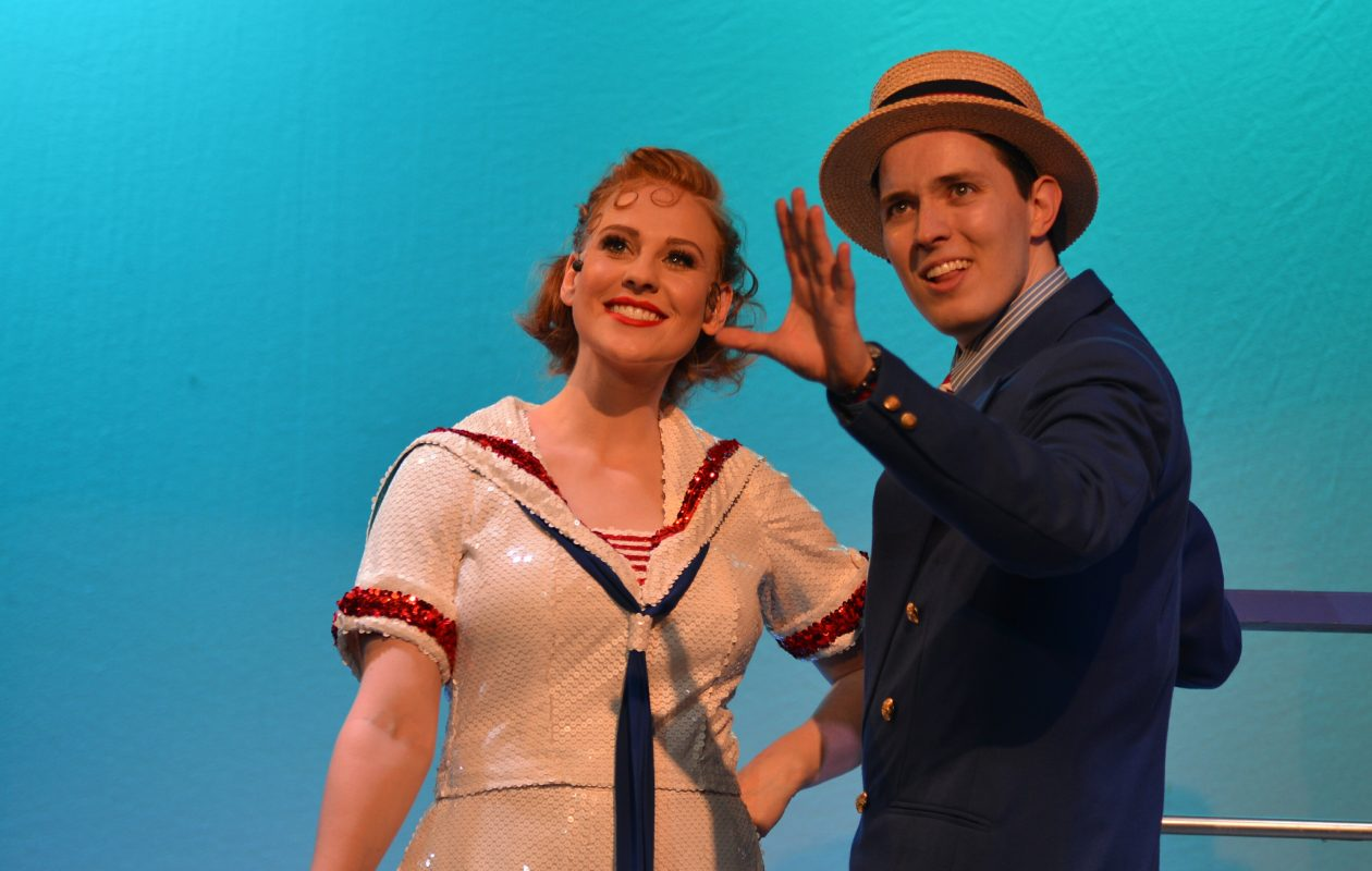 Katie Egan as Reno Sweeney and Brian Klimowski as Billy Crocker in the Lancaster Opera House production of 'Anything Goes.'