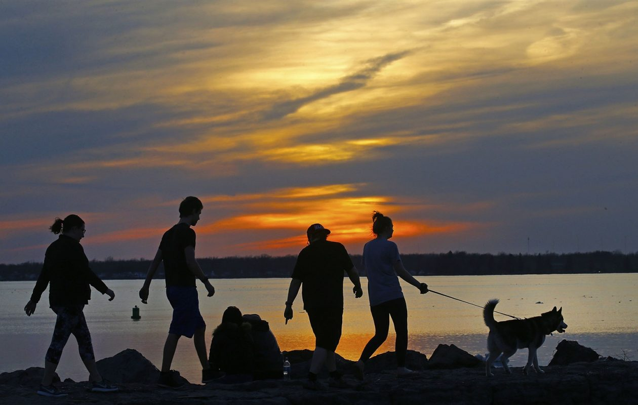 warmest day since october to give way to a windy friday