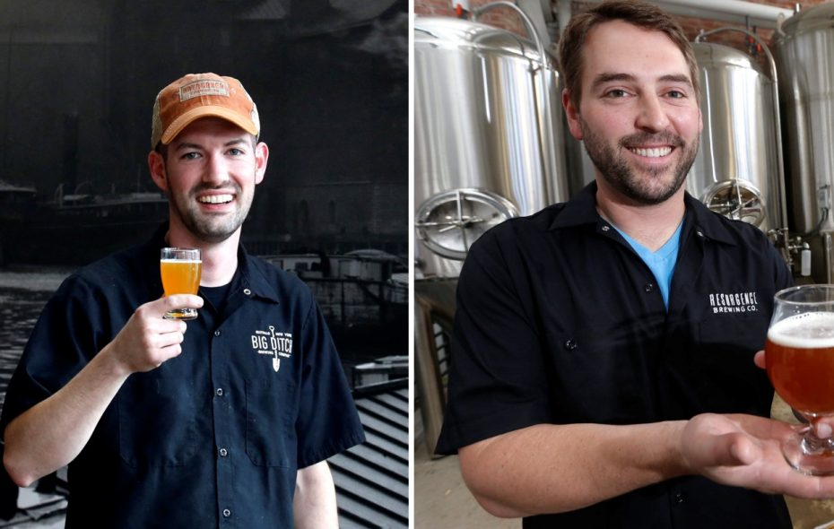 Big Ditch co-owner and brewer Corey Catalano, left, and Resurgence owner Jeff Ware had reason to celebrate after Friday's New York State Craft Beer Competition awards.  (News file photos)