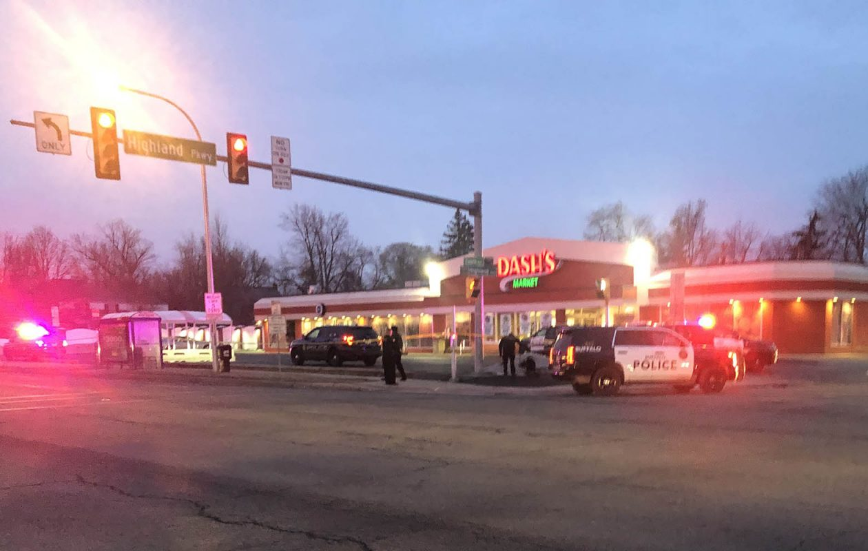 The scene at the Dash's at Colvin Boulevard and Highland Parkway in Tonawanda on Wednesday. (Provided photo)