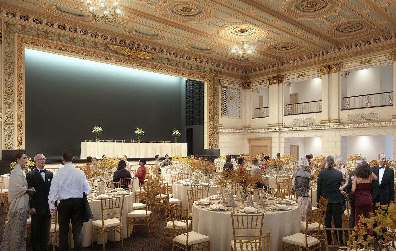 Forbes Theater is one of eight event spaces at the new 500 Pearl.