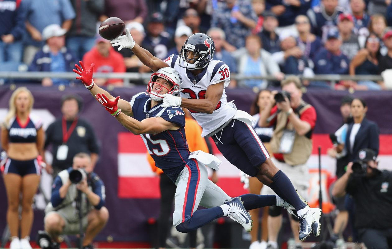 Former Texans cornerback Kevin Johnson would give the Bills competition for Levi Wallace. (Getty Images)