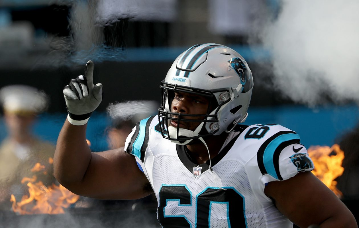 Carolina Panthers tackle  Daryl Williams is a logical right-tackle target for the Bills. (Getty Images)