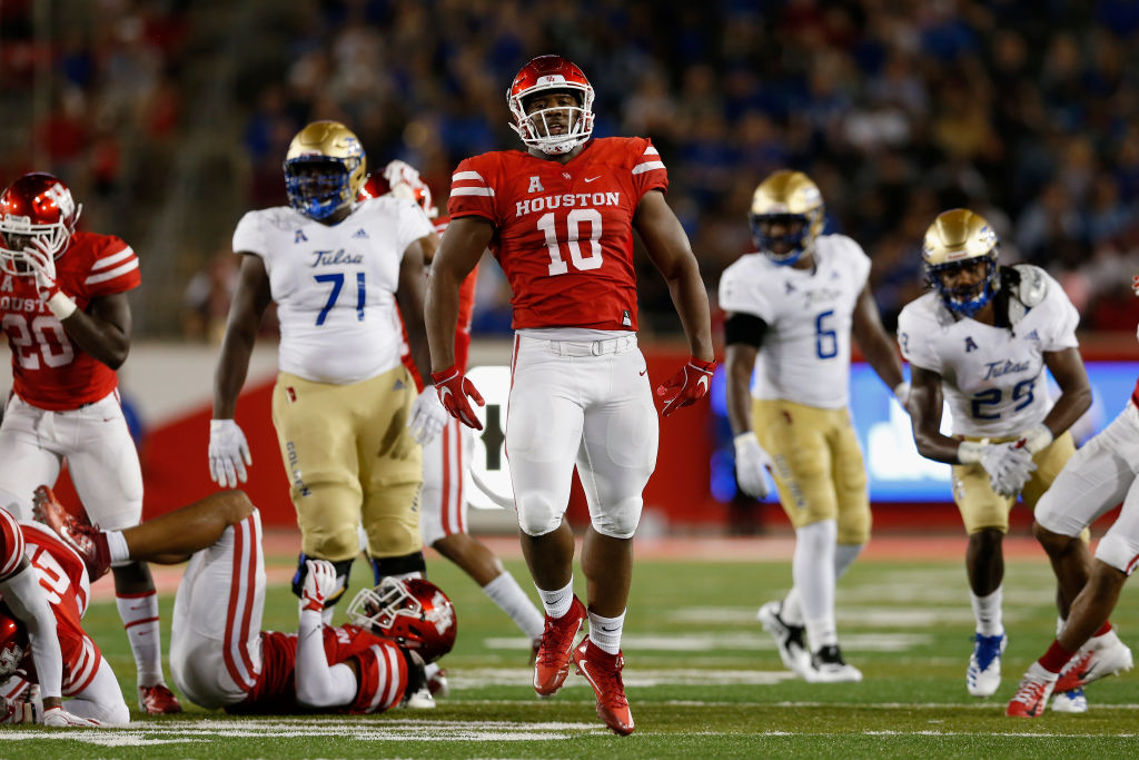 University of Houston defensive tackle Ed Oliver. (Getty Images)