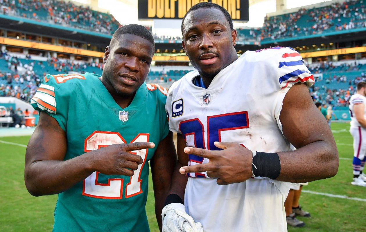 Former Dolphins running back Frank Gore is close with Bills running back LeSean McCoy. The two are set to become teammates in Buffalo. (Getty Images)