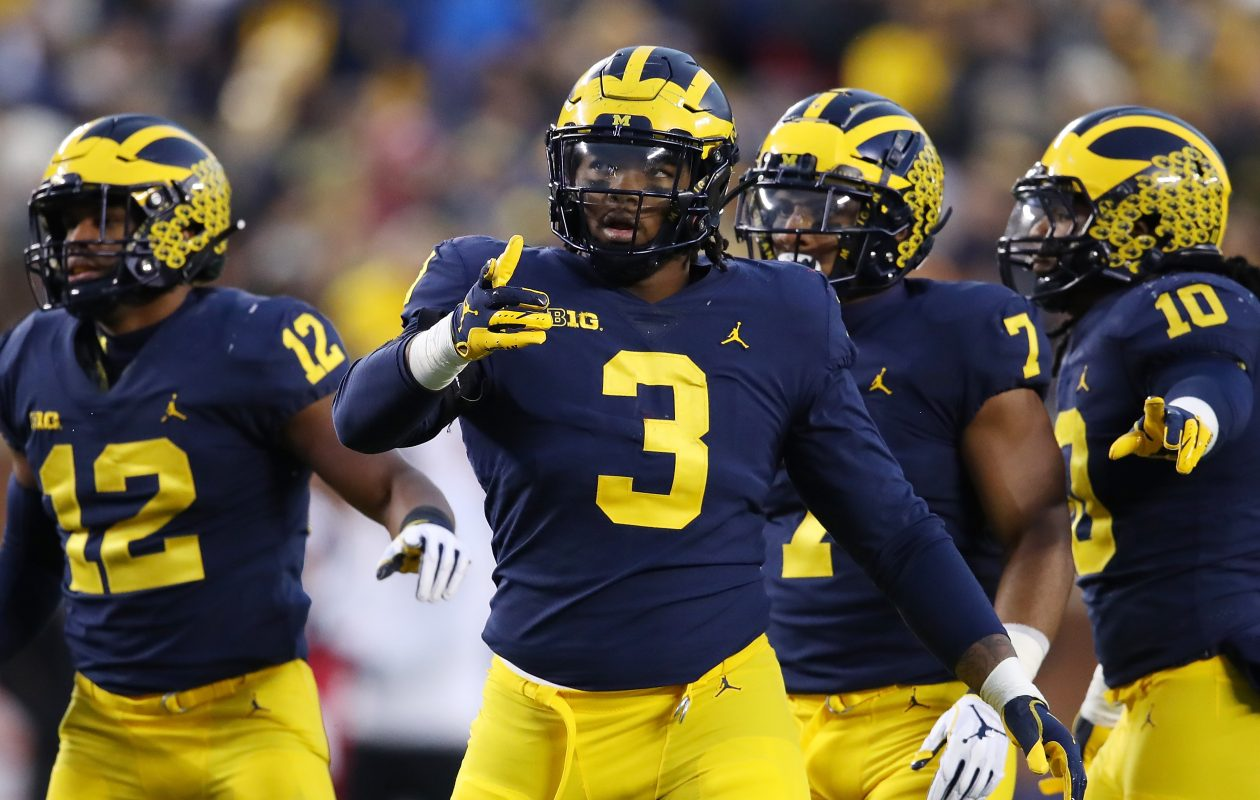Michigan's Rashan Gary is facing questions about his production. (Getty Images)