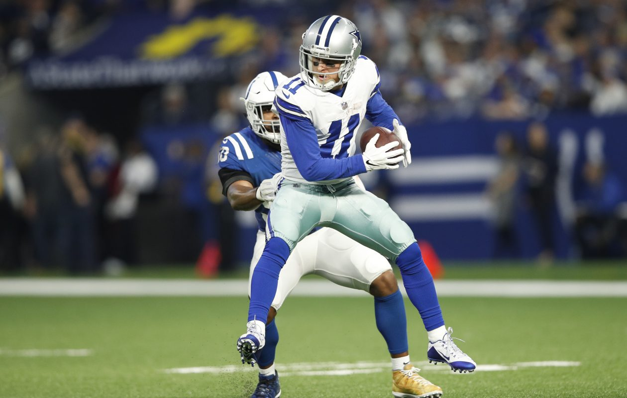 Dallas' Cole Beasley catches a pass against the Colts in December. (Getty Images)