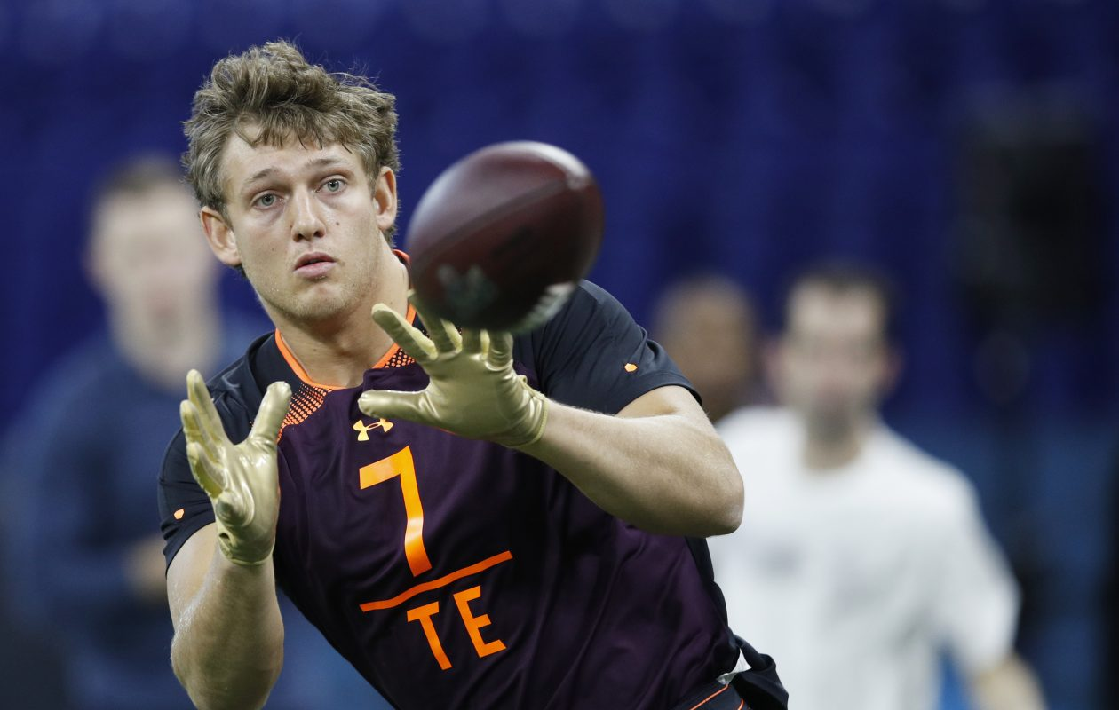 Iowa tight end T.J. Hockenson is considered a 'safe' player in the 2019 NFL Draft. (Getty Images)
