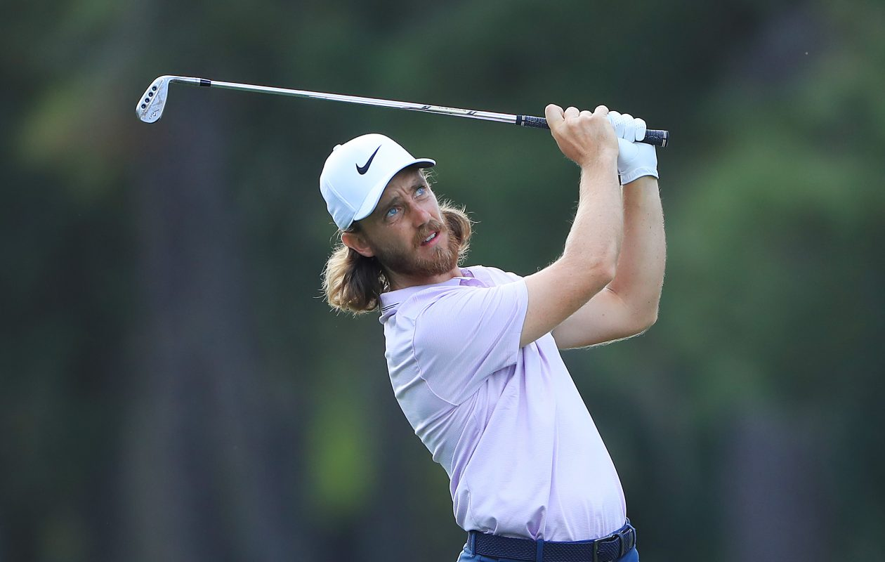 Tommy Fleetwood has bounced back from a rough performance last week to take the early lead at Players Championship. (Photo by Sam Greenwood/Getty Images)