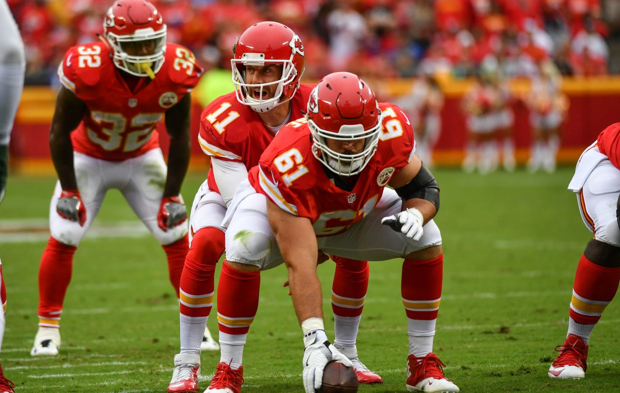 Chiefs free agent center Mitch Morse is expected to sign with the Bills. (Peter Aiken/Getty Images)