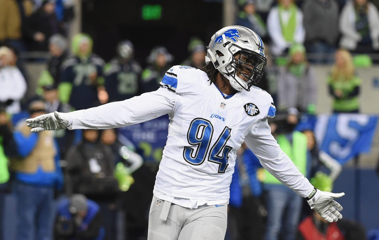 Ziggy Ansah has 48 sacks in 80 career games for the Detroit Lions. (Getty Images)