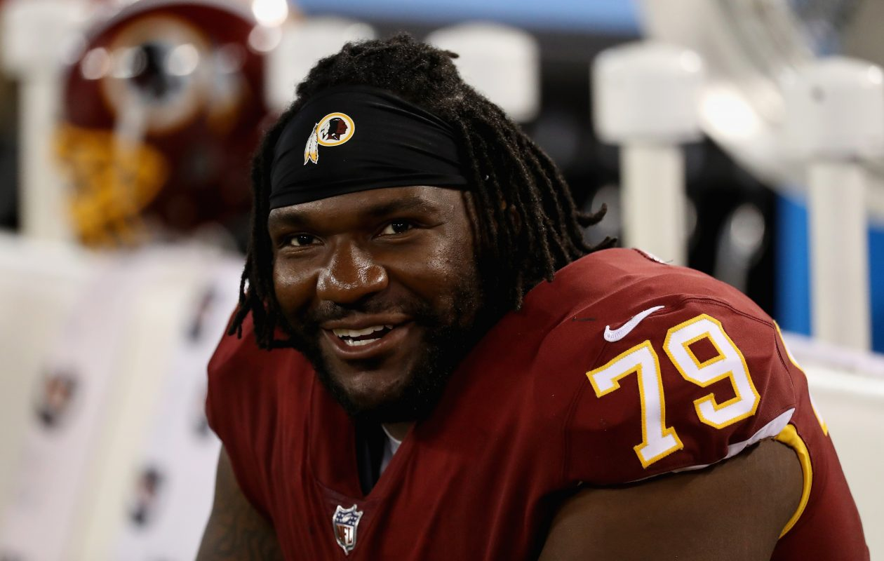 Former Washington offensive tackle Ty Nsekhe will compete for job on the Bills' offensive line, perhaps at right tackle. (Getty Images)