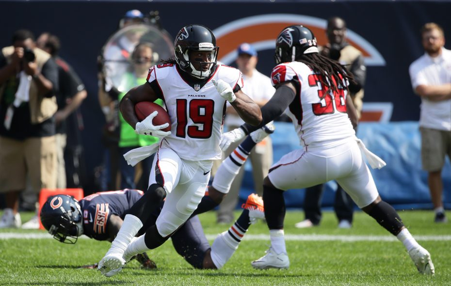 Andre Roberts, seen here playing for the Atlanta Falcons, made the Pro Bowl last season with the New York Jets. He was signed by the Buffalo Bills. (Getty Images)