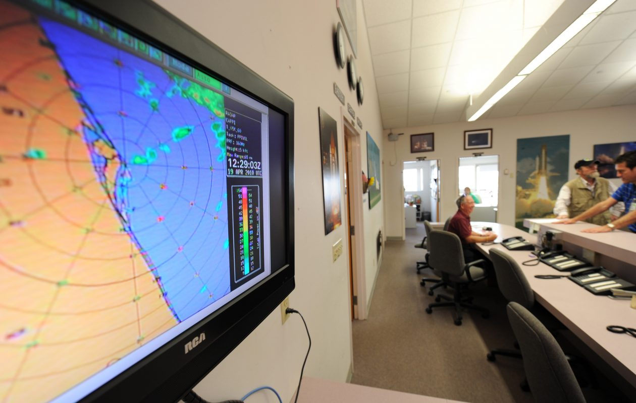 The FCC wants to auction off portions of the spectrum that are used for weather radar data. (STAN HONDA/AFP/Getty Images)
